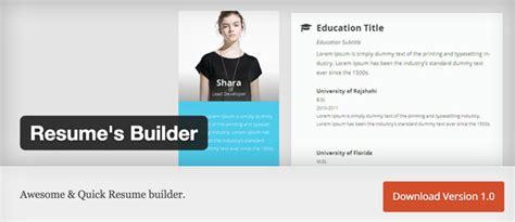 Resume Builder Plugin 10 Frische Kostenlose Plugins Ausgabe April 2015 Dr Web