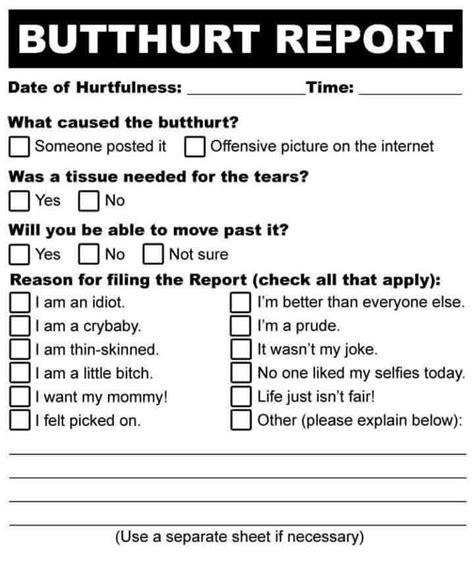Butthurt Meme - butthurt report blank template imgflip