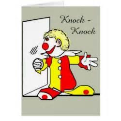 knock knock clown joke birthday greeting card zazzle