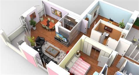 Design Apartment Sketchup | interior apartment modeled in moi furniture in sketchup