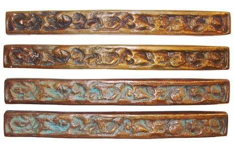 forms and surfaces mid century modern bronze door pulls