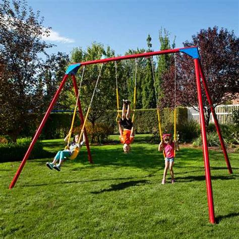 a frame swing sets heavy duty a frame metal swing set 90200 primary colors
