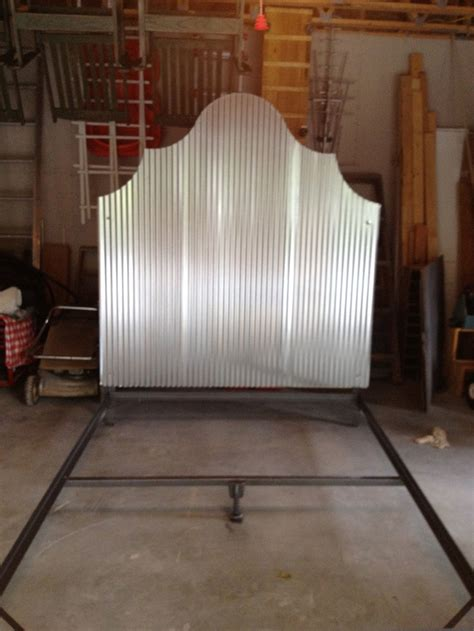 Corrugated Tin Headboard by Pin By On Ideas For The Home Corrigated Tin Presse