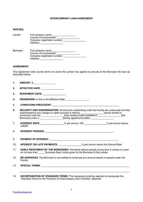 Commercial Loan Agreement Template