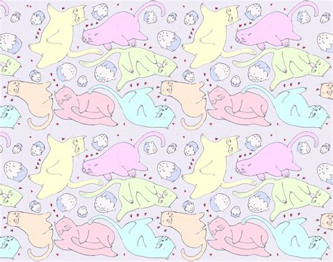 cat background pattern tumblr cat pattern my hand at making up a pattern a cat