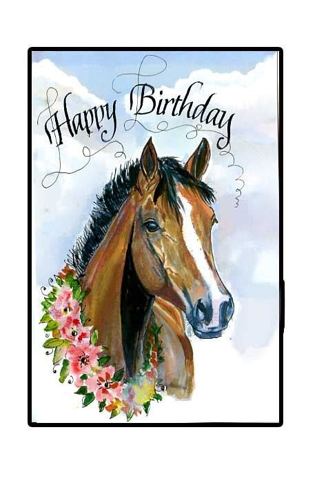 printable birthday cards horses free happy birthday horse card