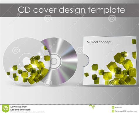 cd cover presentation design template stock vector image