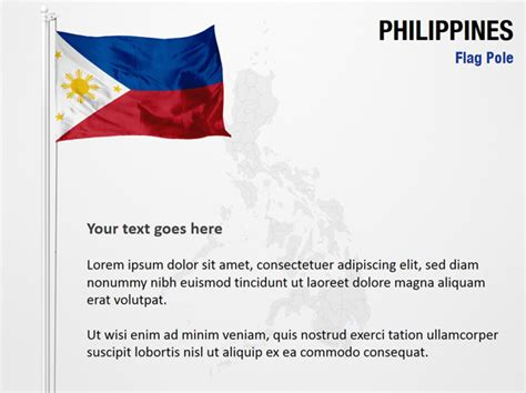 powerpoint themes philippines philippines flag pole powerpoint map slides philippines