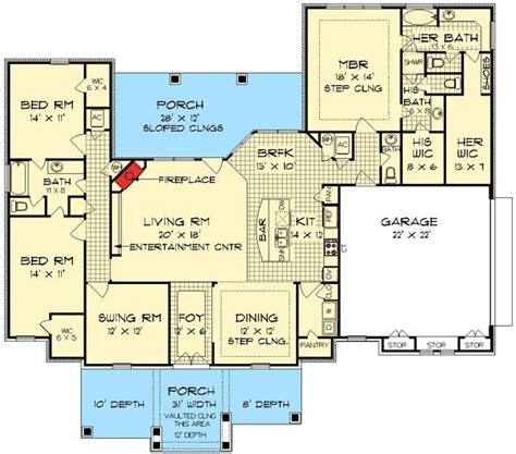 His And Bathroom Floor Plans Plan 55137br His And Bathrooms House Plans