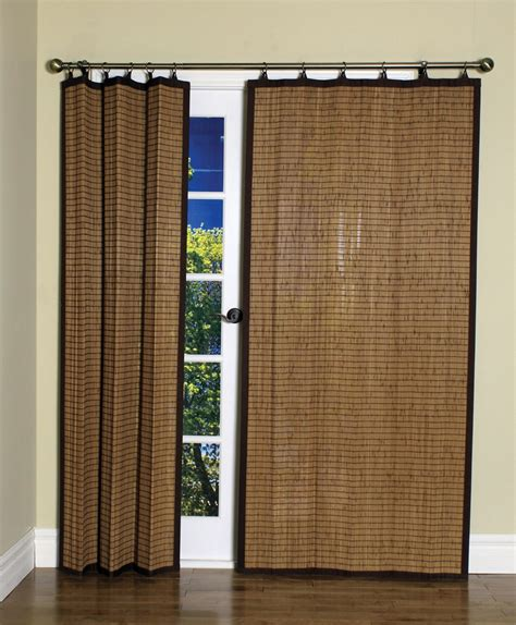closet door curtain curtain bath outlet colonial bamboo ring top curtain panel