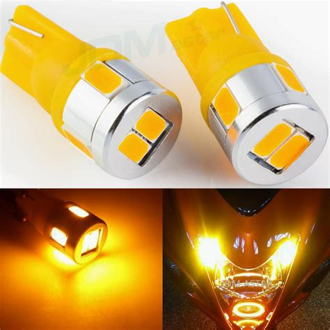 Led T10 Yelow Ultra Bright 10 Titik jdm astar t10 wedge bright 5730 smd interior light bulbs 194 168 2825 w5w ebay