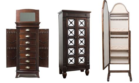 emma jewelry armoire hives honey jewelry armoires and mirrors groupon