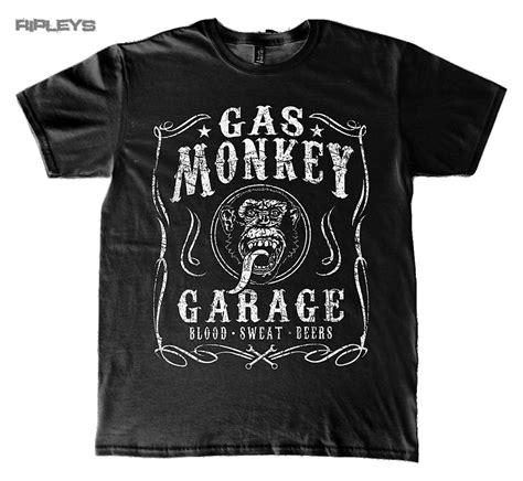 official t shirt gas monkey garage gmg classic logo
