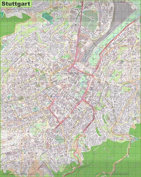 germany map detailed large detailed map of stuttgart