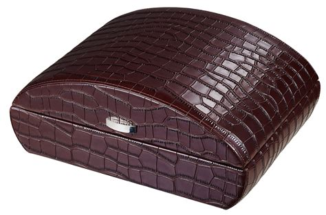 brown crocodile crocodile herm 200 s home decor vestiaire visol blake crocodile pattern brown leather humidor 50