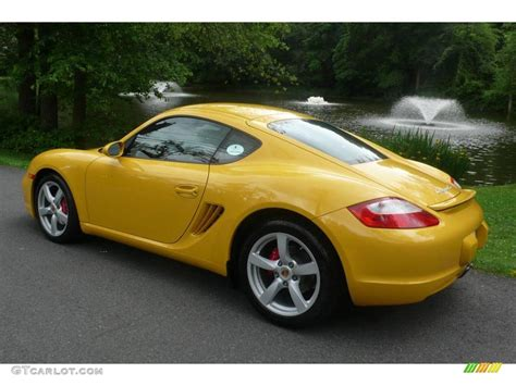 porsche cayman yellow 2007 speed yellow porsche cayman s 11715289 photo 4
