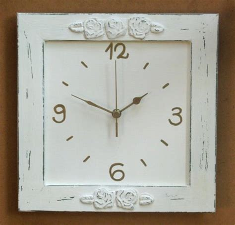shabby chic wall clocks shabby chic wall decor wall clock