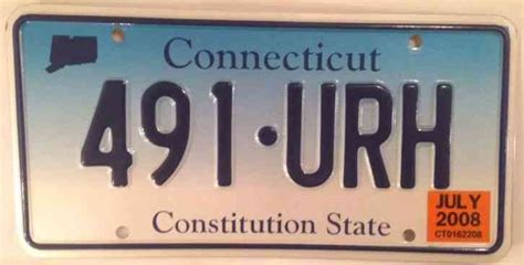 Connecticut Dmv Vanity Plates by Connecticut 491 Urh License Plate Constitution State