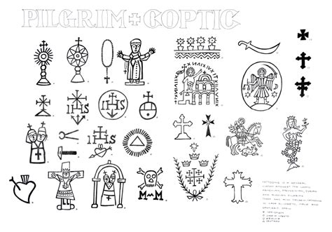 coptic tattoo designs study pilgrim and coptic henk schiffmacher