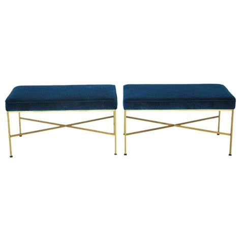 paul mccobb bench paul mccobb brass benches for calvin at 1stdibs