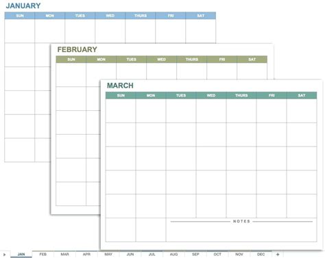 12 month planner template 12 month calendar template excel