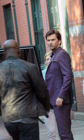 david tennant purple suit photos david tennant films marvel s jessica jones in new york