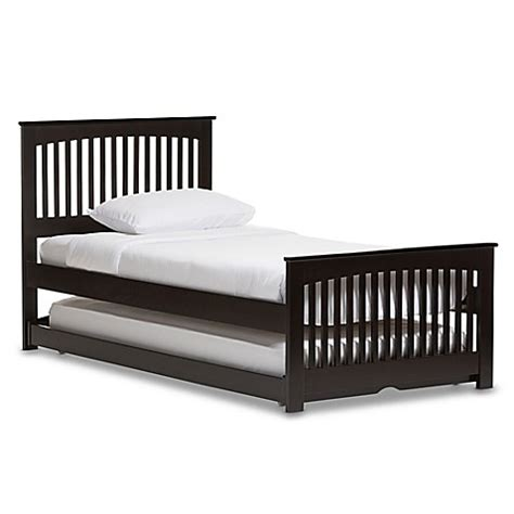 solid wood trundle bed hevea solid wood twin bed with trundle in wenge bed bath beyond
