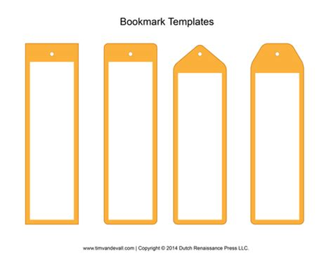 bookmark sizes template blank bookmark template images