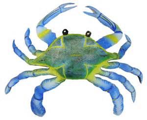 Blue Crab Decorations Maryland Blue Crab Haitian Metal Wall Decor Large Ebay