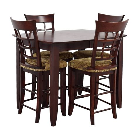 high top dining with 4 chairs 48 off high top dining with four chairs