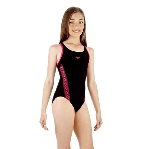 speedo girl swimsuit speedo monogram muscleback girls swimsuit sweatband com