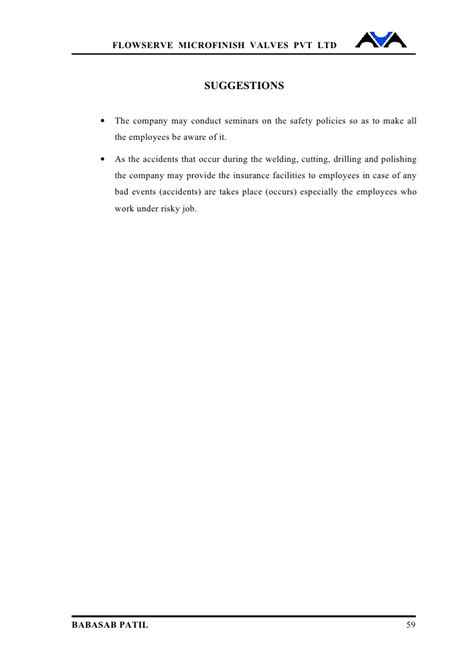 Mba Project On Employee Safety Measures by Safety Measures For Employees Project Report Mba Hr