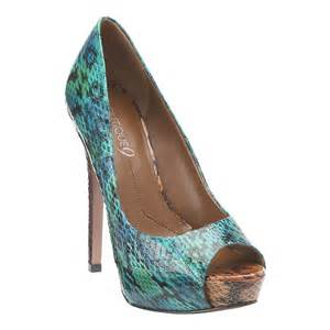 colored heels nine west blue multi colored heels