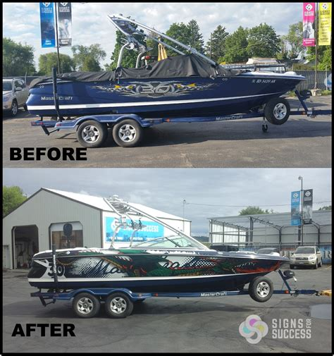 boat decals and wraps master craft custom boat wrap priest lake signs for success