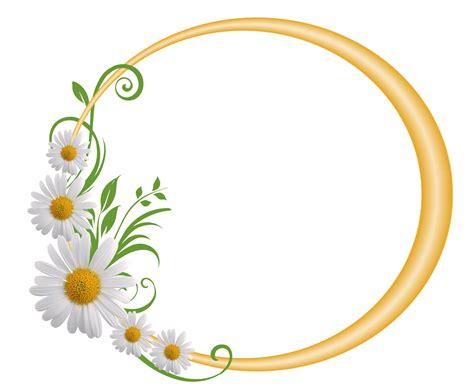 imagenes de pin up gratis marco redondo amarillo con margaritas clipart png