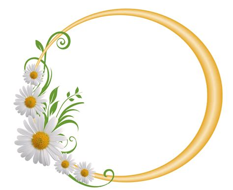yellow  frame  daisies frame border design
