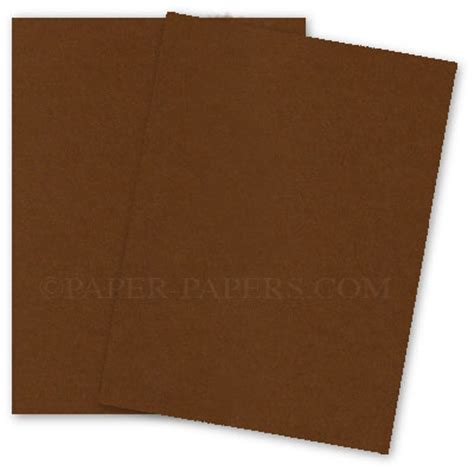 Card Paper Stock - speckletone brown 12x18 card stock paper 100lb cover