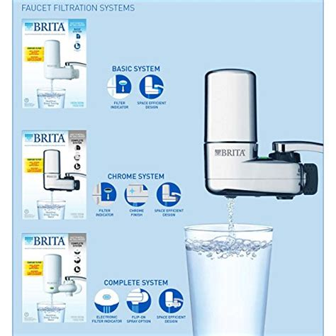brita sink filter replacement brita on tap faucet water filter system chrome pur