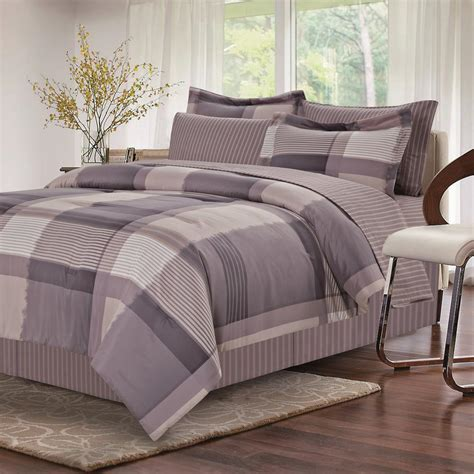 queen bed in bag brown grey harmony grey 8 piece queen bed in bag set