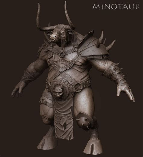minotaur wip by skiv3d on deviantart
