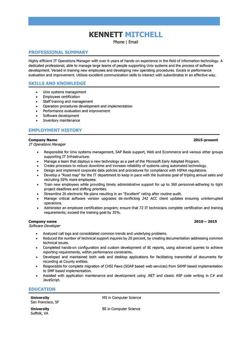 it project coordinator resume sample best format