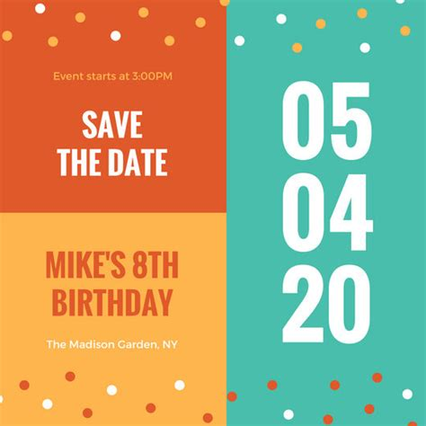 birthday save the date templates free save the date invitation templates canva