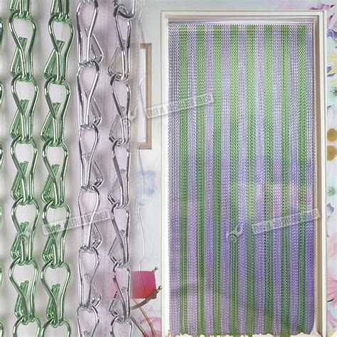 insect curtains aluminium metal chain strip link curtain fly pest bug door