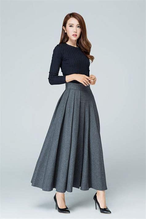 Midi Flare Skirt 1615 Rok Midi Rok Maxi Rok Panjang Murah wool skirt maxi skirt pleated skirt gift for warm skirt winter skirt asymmetrical