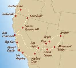 california west coast map route maps of west coast usa