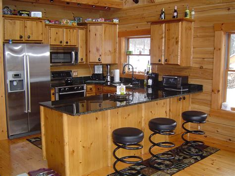 kitchens furniture log cabin kitchens with modern and rustic style