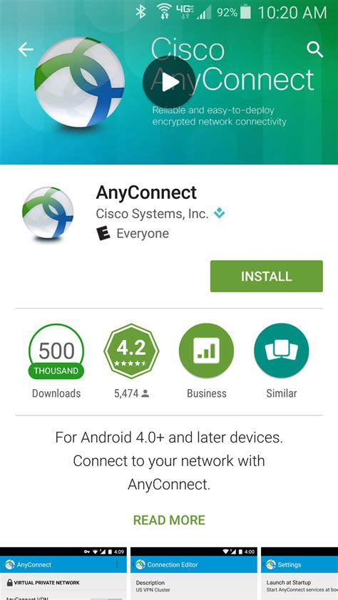 Play Store Vpn Oit Support For The Cisco Anyconnect Vpn Client