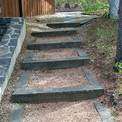 Railroad Ties Landscaping Ideas Railroad Tie Stairs Deer Lake Ideas Pinterest Railroad Ties Cabin And Walkways