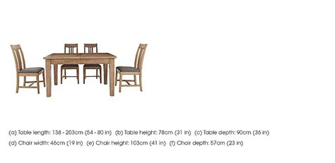 Provence Extending Dining Table And 4 Chairs Provence Extending Oak Table Amp 4 Chairs Furnitureland