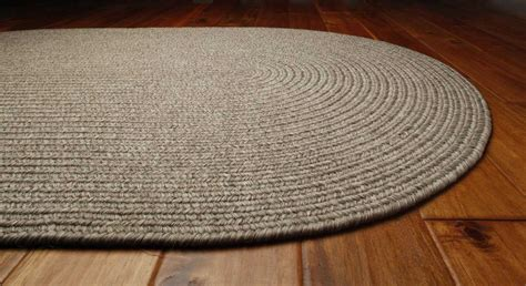 White Braided Rug by Homespice Decor Ultra Durable Braided Oval White Area Rug